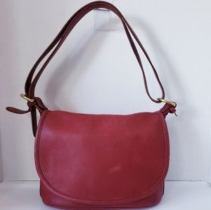 COACH 4150 Red Soho Fletcher Saddle Bag